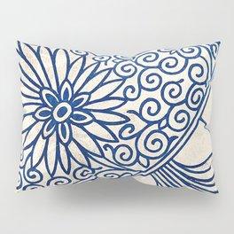 Blue Oriental Vintage Tile 01 Pillow Sham