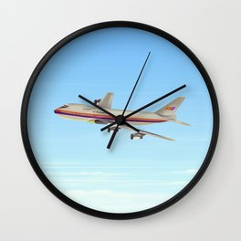 Commercial jet liner Wall Clock