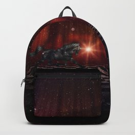 Black Unicorn on the Stage Backpack