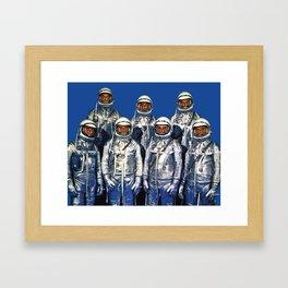 ASTRONAUTS & BUTTERFLIES Framed Art Print