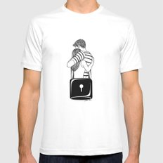 Lock With You Mens Fitted Tee LARGE White