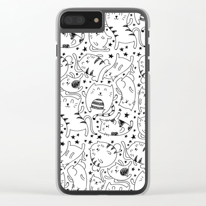 Kitty Boy Clear iPhone Case