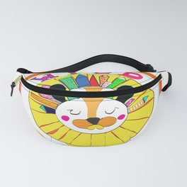 A Lion in the Wild City Fanny Pack
