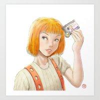 The Fifth Element - Leeloo Multipass Art Print