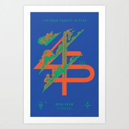 Bon Iver __45___ Design Art Print