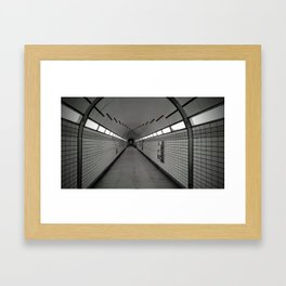 Loneliness in the subway Framed Art Print