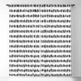 Bold Pattern Black and White Blackout Curtain