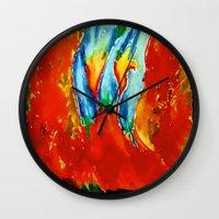 gemini Wall Clocks featuring Gemini by SteeleCat