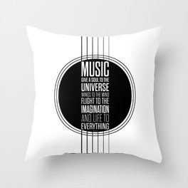 Lab No. 4 - Plato philosopher Inspirational Music Quotes  poster Throw Pillow