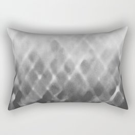 Diamond Fade in Grey Rectangular Pillow