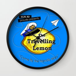 The Travelling Lemon Wall Clock