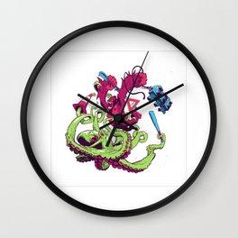 Gorilla vs. Octopus Wall Clock