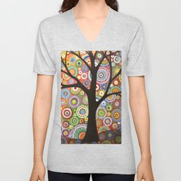 Abstract Landscape Original Painting...VISIONS OF NIGHT, by Amy Giacomelli Unisex V-Neck