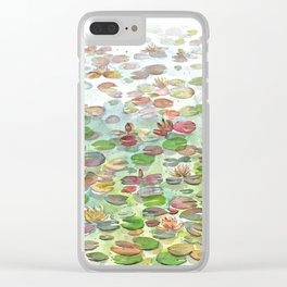 Waterlily II Clear iPhone Case