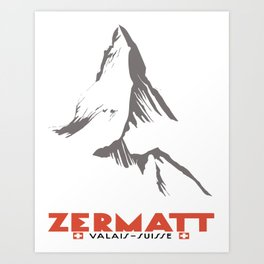 Zermatt, Valais, Switzerland  Art Print