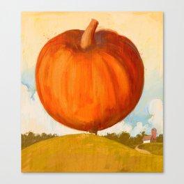 World's largest pumpkin Canvas Print