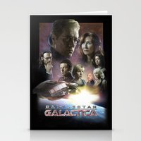 battlestar Stationery Cards featuring BATTLESTAR GALACTICA POSTER by tanman1
