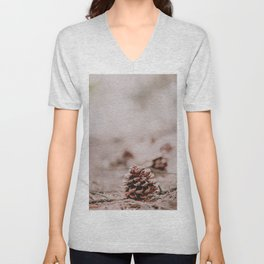 Pinecone in the Woods Unisex V-Neck