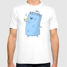 Singing In The Shower? MEDIUM White Mens Fitted Tee