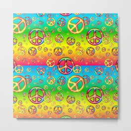 Crazy Kids Colors, Peace Out Metal Print