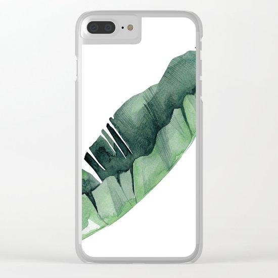 Banana Leaf Green Clear iPhone Case