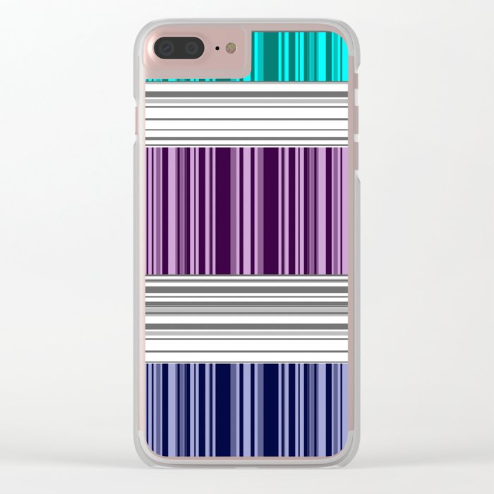 The colorful stripes . Clear iPhone Case