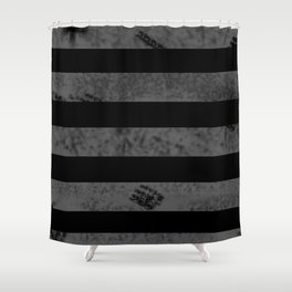 Destroyed stripes Shower Curtain