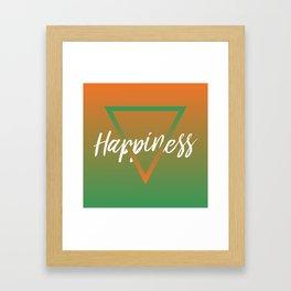 Happiness - Feelings series Framed Art Print