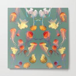Jellyfish Summer Metal Print