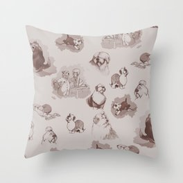 oes draiwing Throw Pillow