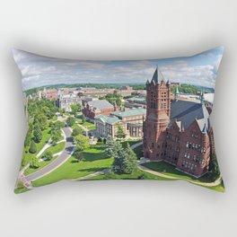 Syracuse University Hill Aerial Photo Rectangular Pillow