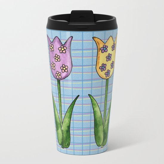 Tulip Row II Metal Travel Mug