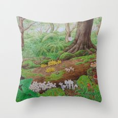 A Day of Forest (5). (dead wood ecosystem) Throw Pillow