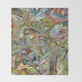 Abstract Oil Painting 12 Throw Blanket
