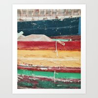 boats Art Prints featuring Boats by stephmel