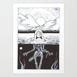 Skinny Dip Art Print