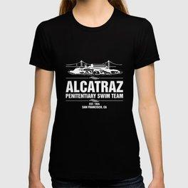 Alcatraz Penitentiary Swim Team T-Shirt Jail Prisoner Tee T-shirt