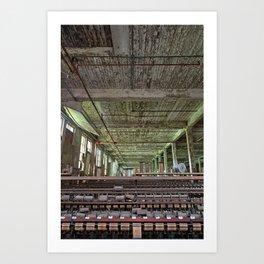 Abandoned Lonaconing Silk Mill Art Print