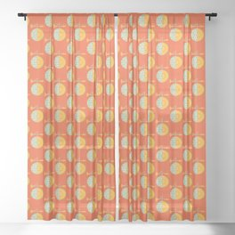 Fruit: Cantaloupe Sheer Curtain