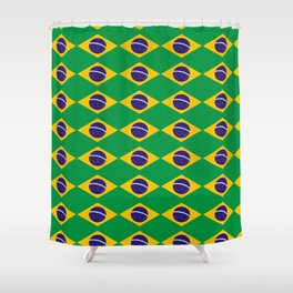flag of brazil 2-Brazil, flag, flag of brazil, brazilian, bresil, bresilien, Brasil, Rio, Sao Paulo Shower Curtain