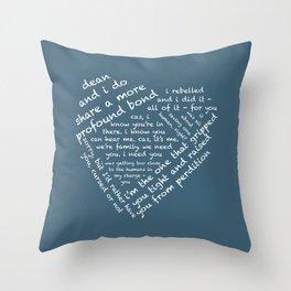Quotes of the Heart - Destiel (White) Throw Pillow