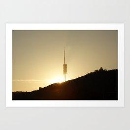 Collserola tower Art Print