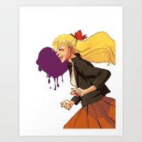 sailor venus Art Prints featuring Sailor Venus by TeaAnemone