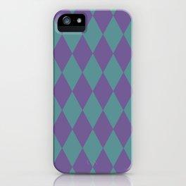 Blue & purple losange  iPhone Case