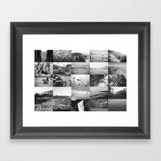 black and white world Framed Art Print