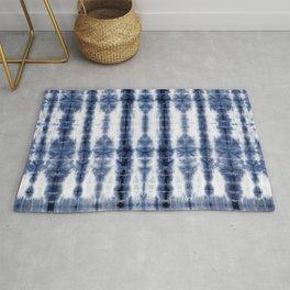 Tiki Shibori Blue Rug