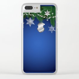 Christmas shopwindow Clear iPhone Case