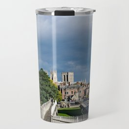 York City Roman wall and Minster Travel Mug