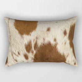 Pattern of a Longhorn bull cowhide. Rectangular Pillow