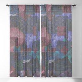 Bohemian Patchwork Hippie Festival Sheer Curtain